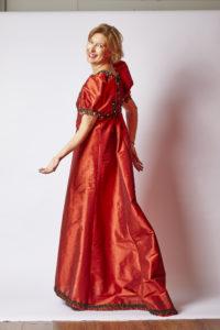 robe longue à traîne
